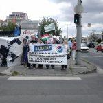 A tiltakozók egy csoportja