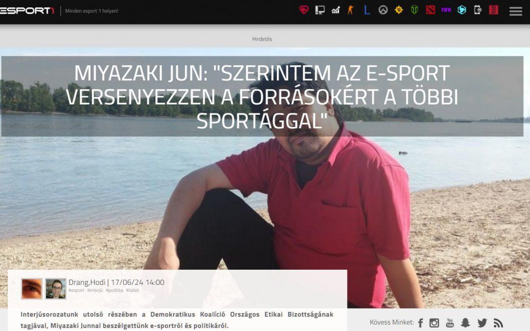 Rólunk írták: interjú Miyazaki Junnal az e-sportról